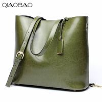 QIAOBAO 100% Natural Leather Totes women messenger bags famous brands designer R642.75