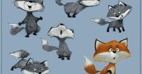 The Little Fox by Guy Wolek, via Behance �˜… Find more at http://www.pinterest.com/competing/