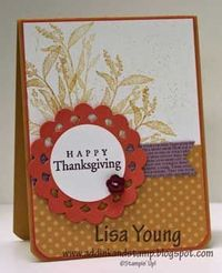 by Lisa Young, Add Ink and Stamp: Nature Walk Thanksgiving