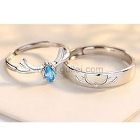 Matching Friendship Promise Rings (Adjustable Size) https://www.gullei.com/matching-friendship-promise-rings-adjustable-size.html