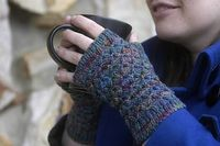 Square Route Mitts | fingerless mitten knitting pattern by Lara Neel, published in Knit Edge magazine, issue two.