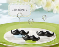 """Little Man"" Mustache Place Card Holders (Set of 6)"