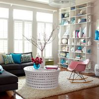 To the Ceiling Storage   Take advantage of a wall's entire height capacity by installing a floor-to-ceiling bookcase -- you'll have more storage space and also create a sleek look. An open unit has a light look and makes the room feel taller sin...