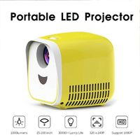 Cartoon Mini Projector 1080P HD Children's TV Projector Portable Household Projector LCD Display Video Equipment Lovely Shape