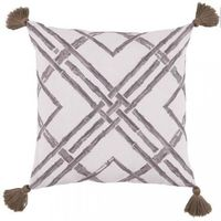 Bamboo Outdoor Pillow in Taupe by Lacefield $185.00
