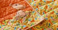 """DINOSAUR TRAIN EASY WEEKEND READING QUILT 1-1/2 YARD each of two coordinating fabrics (3 total) 1/4 �€"""" 1/2 YARD of feature fabric (depending on design) Wonder Under Fusible Fabric Fusible Quilt Batting Permanent Marker (bla..."""