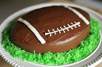 How to: Football Shaped Cake