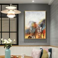 Original Abstract Acrylic Painting On Canvas extra Large Tree Wall Art Pictures for living room Dinning Room cuadros abstractos $89.00