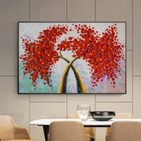 Abstract floral painting palette knife acrylic paintings on canvas tree art extra large framed Wall Art wall Pictures cuadro abstracto $139.00
