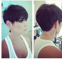 Love this one! Chic Pixie Haircut Side and Back View: Women Short Hairstyles