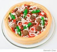 Pizza Birthday Cake Design