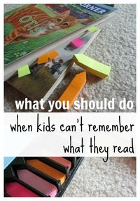 What to Do When Your Child Can't Remember What He Reads | easy comprehension strategies |