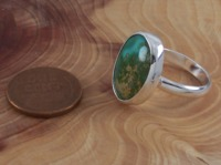 Genuine Nevada Turquoise Sterling Silver Ring Size 7 1/2 $38.95