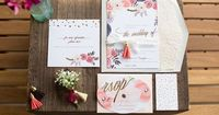 floral invitation | Marissa Cribbs Photography | Glamour & Grace