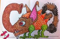 The Lost Sock : Textured Monsters inspired by Maurice Sednak's Where the WIld Things Are