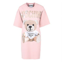 MOSCHINO PAPER BEAR SHORT DRESS PINK