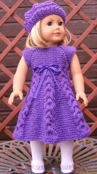 american girl doll knitted clothes patterns | AMERICAN GIRL18 ... by Jacknitss | Knitting Pattern