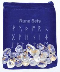 Clear Quartz Rune Set $22.95