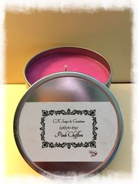 Pink Chiffon Candle https://cksoapsandcreations.ecwid.com/#!/Pink-Chiffon/p/69902341/category=20599072 Find me on Facebook @ Facebook.com/CKCREATE