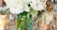 great idea for a casual vase and flowers from the yard
