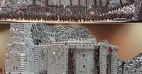 "Here's a 150,000-piece LEGO creation of Helm's Deep, from ""Lord of the Rings"":"