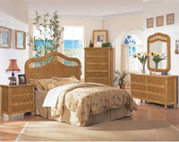 Santa Cruz Wicker and Rattan 4 Pc. Bedroom Set