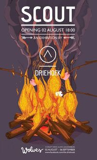 SCOUT exhibition poster by DRIEHOEK, via Behance