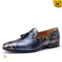 Cwmalls Mens Slip on Leather Tassel Loafers CW750791