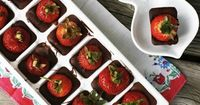 Such a good idea! Use an ice cube tray to make chocolate covered strawberries.