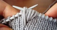 "#Knitting Tutorial ""Amazing texture stitch! Text is in Russian, but there are many more clear pictures. The stitch looks beautiful on either the knit or the purl side. I'm looking forward to trying this great technique."" comment via #KnittingG..."