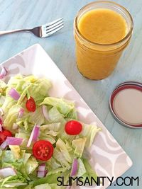 This honey sriracha vinaigrette salad dressing recipe is the perfect blend of sweet and spicy for your favorite salad mix!