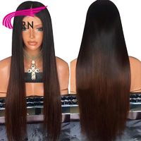 Straight Glueless Lace Front Human Hair Wigs With Pre Plucked Natural Hairline $138.32
