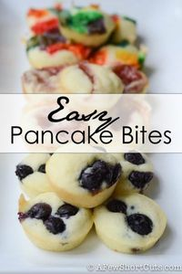 These Easy Pancake Bites make a quick grab and go breakfast for the whole family. Plus, the recipe is customizable to your tastes and needs.