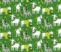 Little Goats in the Garden fabric by robinpickens on Spoonflower - custom fabric