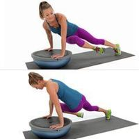 Core Work: Twisted BOSU Plank