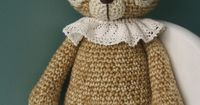 "Sweet ""pierrot"" crocheted bear"