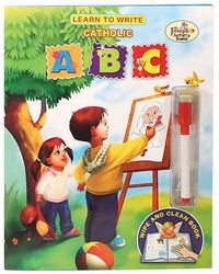 Learn to Write Catholic ABC from Catholic Book Publishing will help children learn about their Catholic Faith as they learn to write their letters. The Wipe and Clean feature allows children to practice repeatedly.