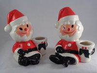 Vintage Christmas Holt Howard Santa Claus Candle by ILuvCollectin