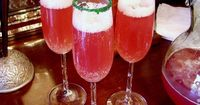 When I have a Christmas or New Year's Eve party, I always serve this easy to make, Champagne punch. This is the recipe but you'll find a printable one at the en