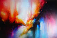 Original abstract expressionist, large painting 'Unleashed' by award-winning artist Simon Kenny $7400.00