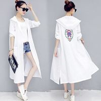 $11.88 Aliexpress - The New National Embroidery Sun Protection Clothing Female Long Summer Hooded Sunscreen Clothing Thin Coat UV Breathable Loose. Buy it from Aliexpress.com