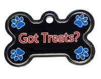 Got Treats Dog Collar ID Tags for Dogs, Personalized, Engraved $16.99