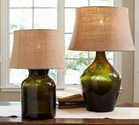Clift Glass Table Lamp Base - Green, Eggplant and Amber #potterybarn