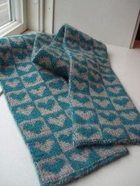 free pattern, double knit scarf / knits and kits - Juxtapost