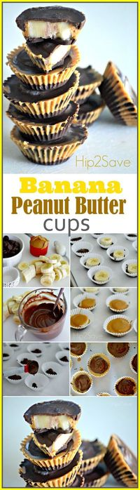 Homemade Banana Peanut Butter Cups If you're craving a mid-afternoon snack or late night treat, try these homemade banana chocolate peanut butter cups. But heed
