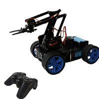 PI Master' DIY 4WD Tracking Obstable Avoidance Smart RC Robot Arm Car With Wireless Stick Compatible Arduino