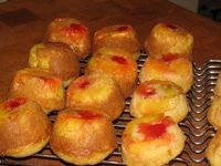 Skinny pineapple upside down cup cakes made with almond milk and applesauce