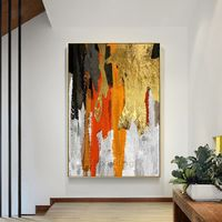 Gold art abstract Acrylic Paintings On Canvas black painting original extra Large wall art wall pictures frame wall art cuadros abstractos $116.47