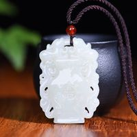 Exquisite Hetian Jade Carved Vase Necklace - Women's Fashion Necklace - Mother's Day gift-Necklace Pendant-Charm Necklaces