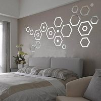 3D Hexagonal Mirror Wall Stickers (24 pc) $19.99